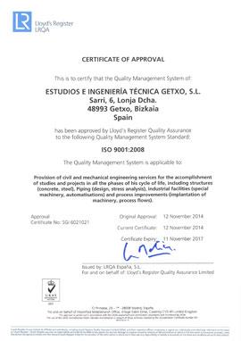 Certificado EIT Getxo
