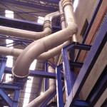 Calculo de Stress y soportación de chimeneas de hornos de tratamiento